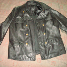 Geaca barbati, Piele - Geaca/haina din piele militara, barbati, moto/motor/police/vintage/colectie/ RAR