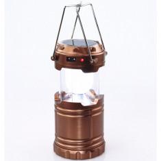 Lampa / felinar camping, pescuit, vanatoare, cu Acumulator, Solar