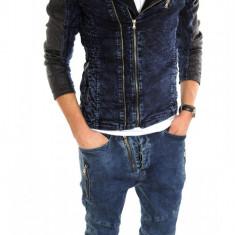Geaca de blugi tip ZARA - geaca SLIM FIT - geaca fashion LICHIDARE DE STOC 6222 - Geaca barbati, Marime: S, M, L, XL, Culoare: Din imagine