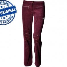 Pantalon dama Adidas Winter - pantaloni originali - Pantaloni dama Adidas, Marime: M, XS/S, S/M, Culoare: Visiniu, Lungi, Poliester