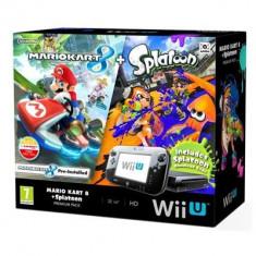 Jocuri WII U - Consola Nintendo Wii U Black Cu Mario Kart 8 Si Splatoon