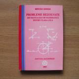 Probleme Rezolvate din Manualele de Matematica clasa a 9-a - Mircea Ganga - Culegere Matematica