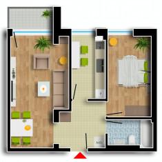 Apartament de vanzare, 2 camere, Etajul 1, An constructie: 2016, Suprafata: 74 - Apartament NOU, Cartier Prima Residence Oradea, 2 camere-VIENA, 53306 Eur