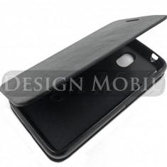 HUSA HTC DESIRE 210 FLIP TIP CARTE SUPER OFERTA - Husa Telefon HTC, Negru, Piele Ecologica, Cu clapeta, Toc