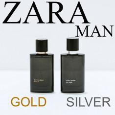 Parfum ZARA Man Gold Silver set cadou 2 x 30 ml elegant si casual paco armani - Parfum barbati Zara, Seturi, 60 ml, Lemnos