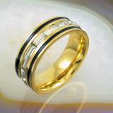 Inel Placat cu Aur 18K, presarat cu Zirconiu, cod 929