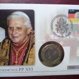 2005 Vatican - Papa Benedict al XVI-lea, FDC si medalie., Europa, Oameni