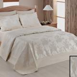 Cuvertură de pat dublu Valentini Bianco YT037 Ecru