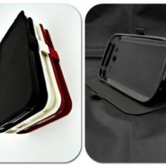 Husa Telefon - Toc FlipCover Stand Magnet Nokia 230 (2015) NEGRU