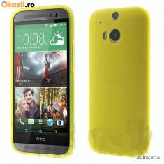 Husa Htc M8 silicon + folie sticla, HTC One M8