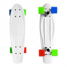 """Skateboard - Cruiser Kryptonics Torpedo White 22""""/56cm"""