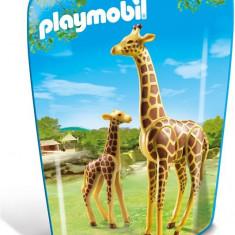 Girafa Cu Pui - Figurina Animale Playmobil