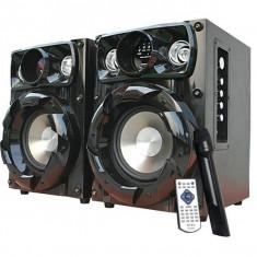 Echipament karaoke - SISTEM KARAOKE 2 BOXE ACTIVE INTEX BASS BOOST, MICROFON WIRELESS, TELECOMANDA, MP3