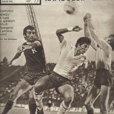 Revista SPORT nr. 13/1972 FC Arges Rapid Bucuresti Hipodrom Ploiesti