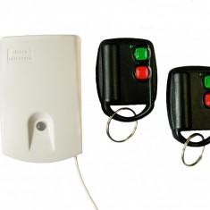 SET RECEPTOR CU 2 CANALE + 2 TELECOMENZI ELMES U2HS, 150M - Telecomanda alarma