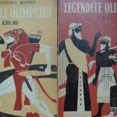Carte mitologie - Legendele Olimpului 2 vol. eroii+zeii an 1973/ilustratii: C.Condacii- Al.Mitru
