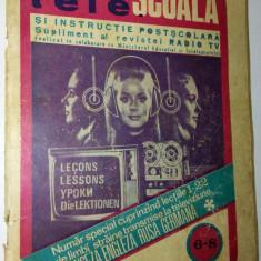 Revista Radio - Tele Scoala Supliment Radio Tv (6 -8 / '72) - Revista scolara