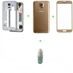 Rama Samsung Galaxy S5 + capac baterie + geam sticla galaxy s5 + loca cleaner