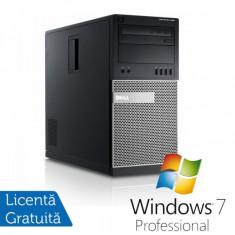 Sisteme desktop fara monitor - Dell OptiPlex 990 Tower, Intel Core i5-2400, 3.10Ghz, 4Gb DDR3, 250Gb SATA, DVD-ROM + Windows 7 Professional