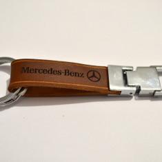 Breloc Mercedes piele naturala - Breloc Auto Mercedes-benz