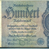 Bancnota Straine, Europa - A 138 BANCNOTA-GERMANIA- 100 MARK- anul 1935 -SERIA 5307888 -starea care se vede