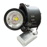 25W Spot LED Downlight COB Zoom Fitting Corp Negru 3000K - Bec / LED