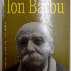 ION BARBU de ALEXANDRU CIORANESCU, 1996 - Studiu literar