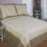 Set cuverturi de pat din bumbac satinat Cioban 8057 - Cuvertura
