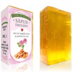 Sapun emolient cu ulei de migdale dulci si parfum de roze vol. 1 100 g