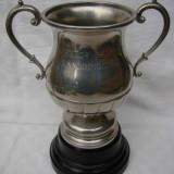 Argint, Pocal - Raritate!!! Impresionanta cupa din staniu cu inaltimea de 26, 5 cm, anii 1940