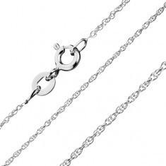 Lanţ din argint 925 - linie răsucită, zale în spirală 1, 3 mm - Lantisor aur