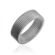 Inel împletit din oțel inoxidabil - Inel argint