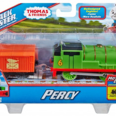 Trenulet locomotiva motorizata Percy cu vagon - Thomas&Friends Track Master - Trenulet de jucarie Fisher Price