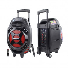 Boxa activa Wireless Portabila Tip Troler TemeishengQ7 USB MP3 Karaoke