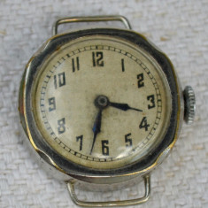 Ceas mecanic dama - Ceas dama, Mecanic-Manual, Otel, Metal necunoscut, Analog, 1940 - 1969