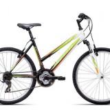"Bicicleta dama CTM Stefi 2.0, 2016, cadru 16"", negru / verde Cod Produs: 037.52"