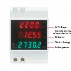 Contor electronic ampermetru voltmetru wattmetru, Contor de energie electrica - Panouri solare