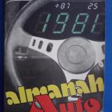 Almanah auto 1981 / R2P1F - Carti auto
