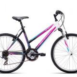 """Bicicleta dama CTM Stefi 2.0, 2016, cadru 16"""", negru / mov Cod Produs: 037.50"""