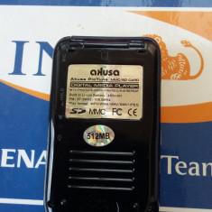 DIGITAL MEDIA PLAYER AKUSA PIC TUNE, 512 MB, SD CARD/MMC/FM RADIO/MP3, DEFECT . - Mp4 playere, Sub 1 GB, Negru
