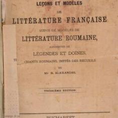 Lecons et modeles de Literature Francaise - Autor(i): Antonin Roques - Carte veche