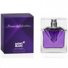 Mont Blanc Femme 75 ml - 100 % Original! - Parfum femeie Mont Blanc, Apa de toaleta