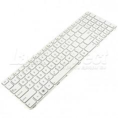 Tastatura Laptop Asus K53S alba cu rama