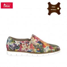 Pantofi dama piele naturala RIEKER multicolor (Marime: 39) - Pantof dama