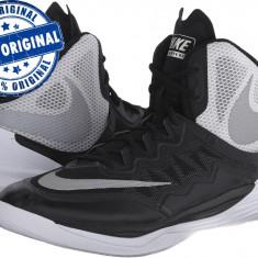 Adidasi barbat Nike Prime Hype DF 2 - adidasi originali - ghete baschet - Adidasi barbati Nike, Marime: 40.5, Culoare: Negru, Textil