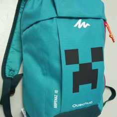 Ghiozdan Minecraft - Creeper -Rucsac Prescolari + 2 CADOURI: Breloc si Bratara !, Unisex, Verde