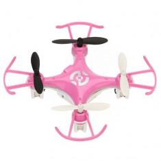 Mini Drona iUni X6B, leduri pentru exterior, Telecomanda WiFi, Giroscop, Roz - Elicopter de jucarie