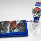 Ceas pentru copii cu portofel SPIDER-MAN