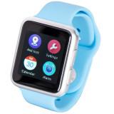 Ceas Smartwatch iUni V9, Bluetooth, LCD 1.44 inch, Procesor 366MHz, Albastru