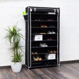 Pantofar panza pentru 45 perechi pantofi-negru - Raft/Etajera